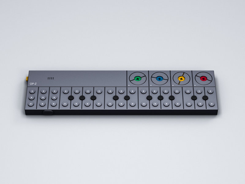 Teenage Engineering OP-Z synthesizer modeling op-z opz teenage engineering te 3d c4d cinema 4d