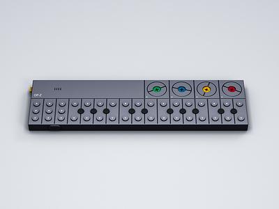 Teenage Engineering OP-Z synthesizer modeling op-z opz teenage engineering te 3d c4d cinema 4d