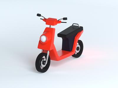 E-Scooter illustration rendering escooter motorscooter scooter render octane cinema 4d c4d 3d