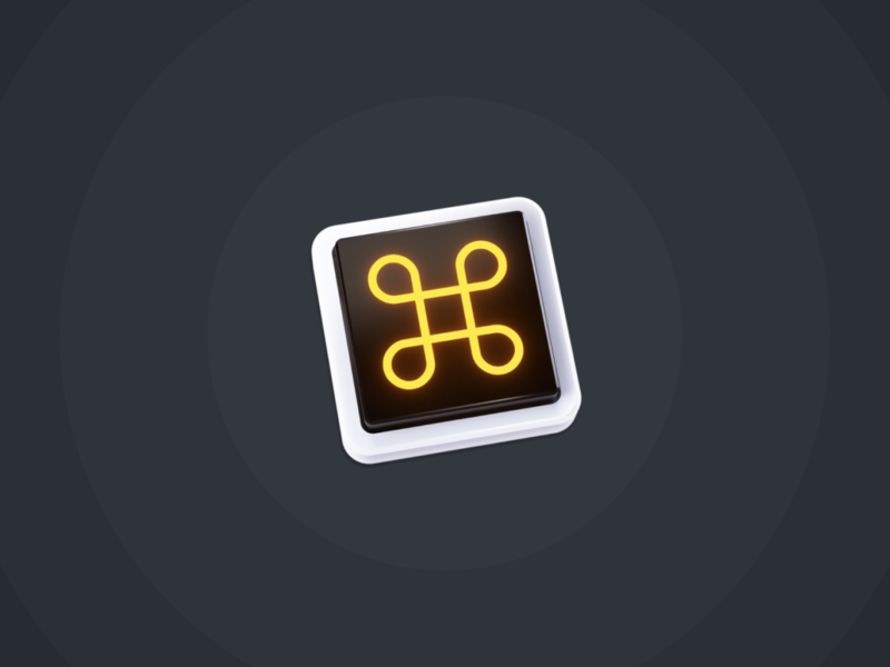 Mouseless Icon ⌘ shortcut shortcuts keyboard mouseless dock octane cinema4d 3d icon