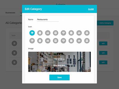 Edit Category Modal yelp ux ui app web local business edit picker modal categories
