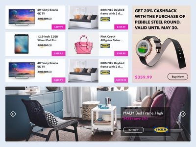 Product Layout carousel ad price ecommerce store commerce grid layout products ux ui web