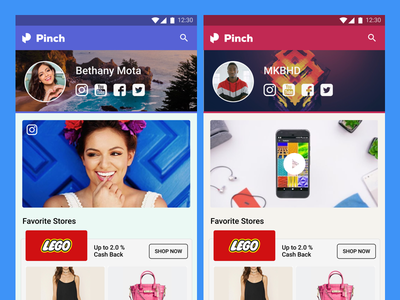 Partner Apps android youtube web ux ui shopping products influencer earn clean cashback app