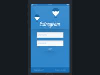 Insatgram log in screen | Extragram