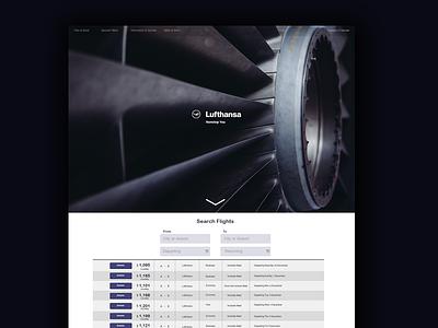 Lufthansa Website web design lufthansa