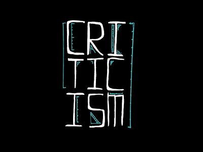 Criticism hand lettering lettering criticism