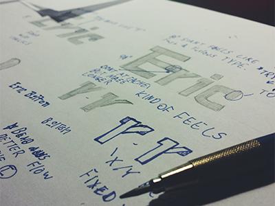 Lettering custom type logo lettering eric sketch