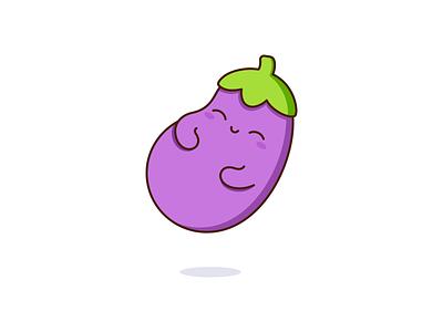 Eggplant vegetable eggplant kawaii graphic cute vector design illustration