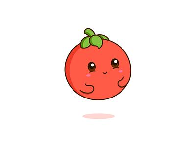 Tomato tomato green red kawaii graphic cute vector design illustration