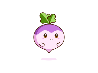 Original Turnip needed to be pulled out. kawaii graphic vector cute illustration design vegetable turnip