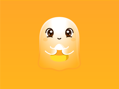 The Little Ghost weekly warm-up kawaii graphic vector cute design illustration halloween candy corn ghost
