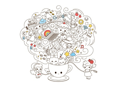 The Cafe cafe kawaii graphic cute vector design illustration