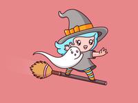 Surfing Witch