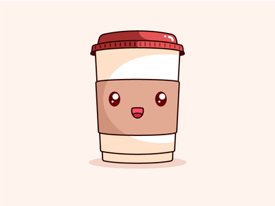 Good Morning Monday! vector illustration design cute coffee