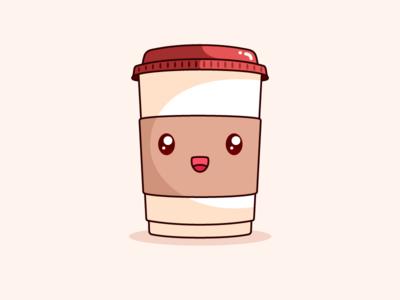 Good Morning Monday! vector illustration design cute coffee