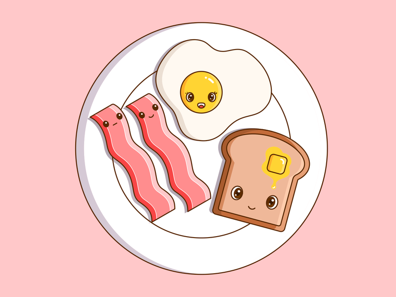 Bacon and Egg! cute vector illustration design bacon egg breakfast