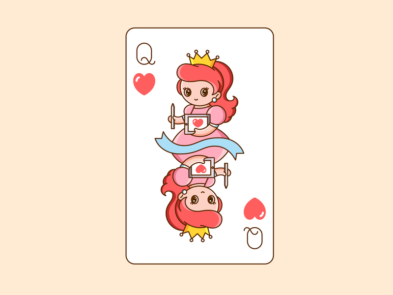 Queen of Heart cute vector illustration design queen of hearts playing card