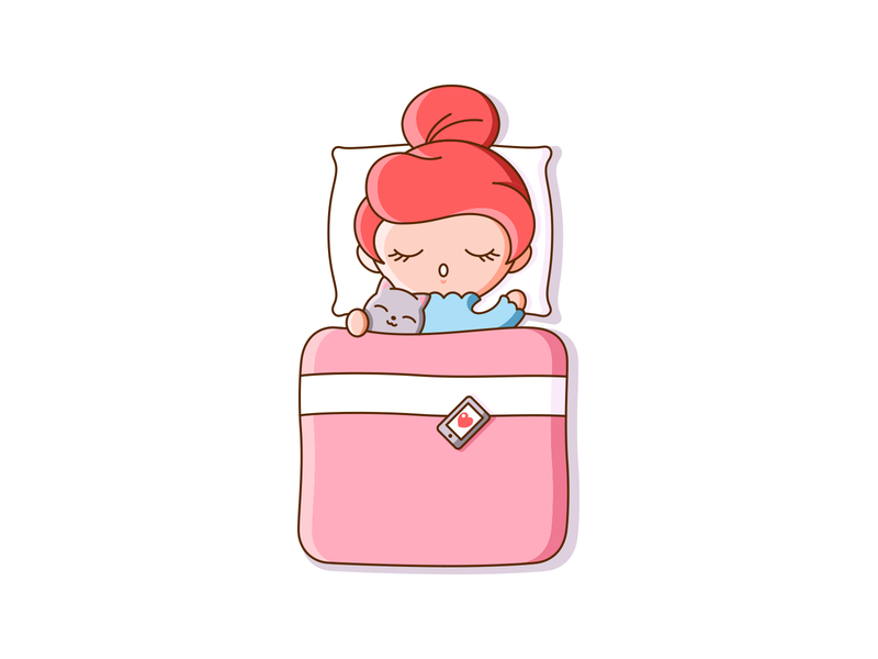 Thankful cute vector illustration design bed thank you thankful