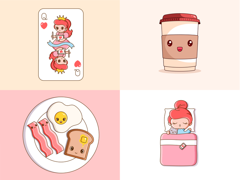 Best 4 Shots of 2019 graphic cute vector illustration design collection new year 2019 shots 2019