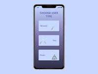 Daily UI Challenge 064 - Choose User Type