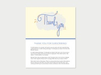 Daily UI Challenge 077 - Thank You