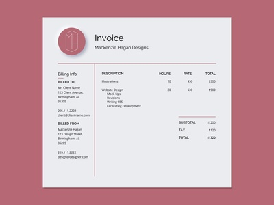 UI Daily Challenge 046 - Invoice