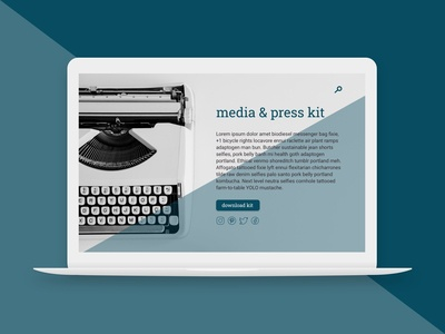 Daily UI Challenge 051 - Press Page