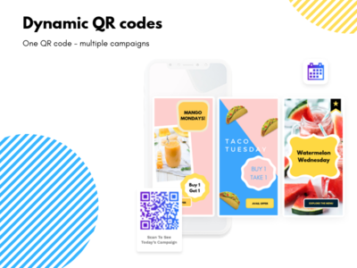 QR codes that can switch campaigns linked to them