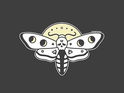 Death's Head Moth design graphic design illustration vector magical magic ghosttraveler halloween spooki bugs witchy witch deaths head moth death moth moth