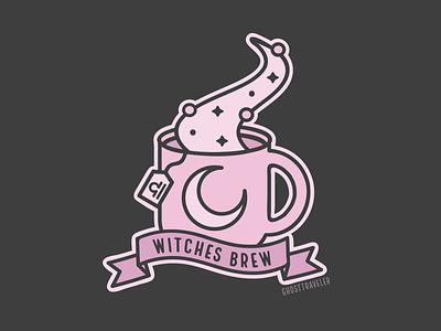 Witches Brew Libra pastel graphic design graphic designer witch spooky adobe illustrator line art witches illustrator magic witchcraft witchy ghosttraveler coffee illustration vector libra witches brew