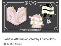 Positive Witchy Enamel Pin Kickstarter