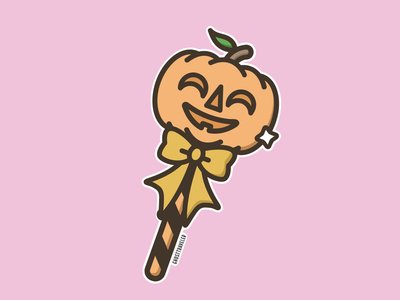 Pumpkin Lollipop candy witch witchy spooky pink pastel illustration vector ghosttraveler pumpkin halloween