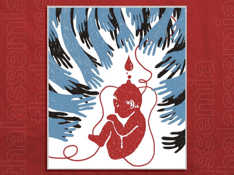 [Poster] Thalassemia Exhibition poster photoshop flat vietnamese design illustration