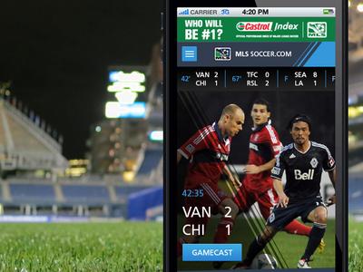MLS Redesign (for fun) mls soccer mobile