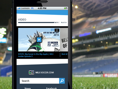 MLS Redesign (for fun) 2 mls soccer mobile