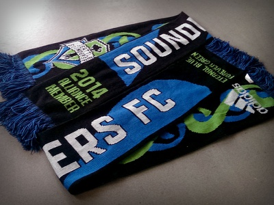 Seattle Sounders FC 2014 STH Scarf soccer scarf seattle sounders