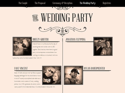 Wedding website for friends (cont) wedding