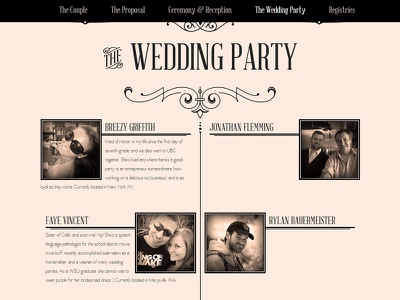 Wedding website for friends (cont) wedding