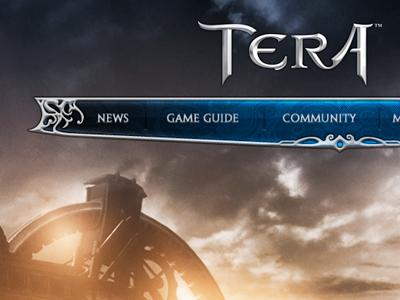 Tera Header & Nav videogames ui nav