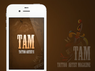 Splash Screen for Tattoo Artist Magazine tattoo app ios splash screen