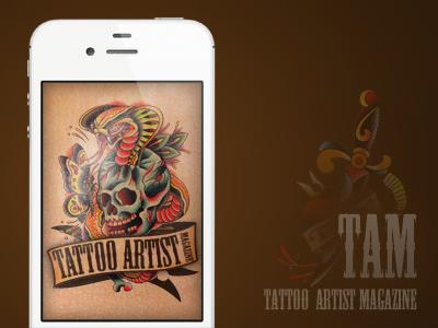 Alternate Splash Screen for Tattoo Artist Magazine App tattoo app ios splash screen
