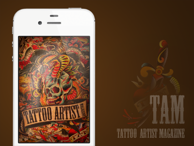 Splash Screen for Tattoo Artist Magazine, Version 3 tattoo app ios splash screen