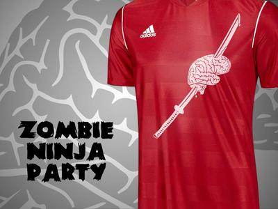 Zombie Ninja Party soccer jersey zombies ninjas