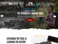 Athabasca Landing Trail branding website design website mockup