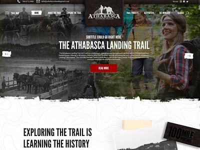 Athabasca Landing Trail branding website design website mockup