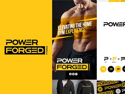 Power Forged Fitness brand style fitness logo brand designer brand strategy brand studio brand design promotional design design packaging design logo logo design branding