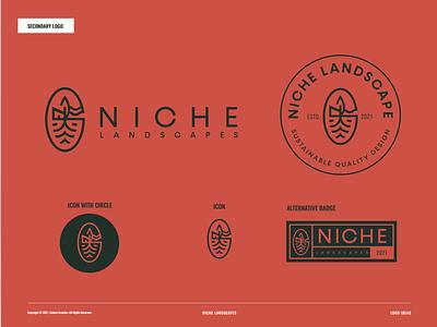 Niche Landscapes graphic design identity design logo logo design branding