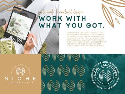 Niche Landscape graphic design style scape design logo logo design branding