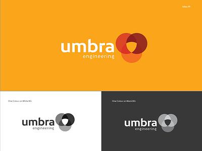 Umbra Engineering Idea illustration print and pattern logo illustration. branding logo design