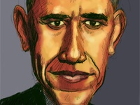 Sketch of President Obama